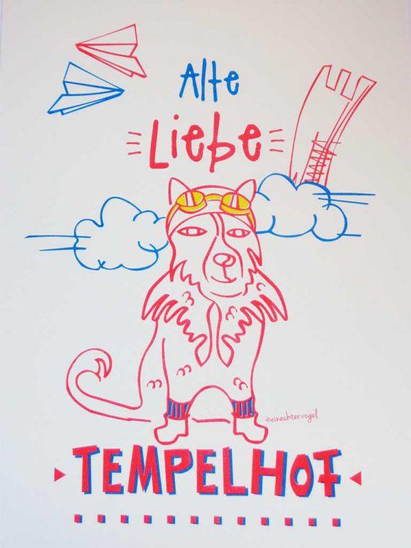 Riso Print Hund Alte Liebe Tempelhof
