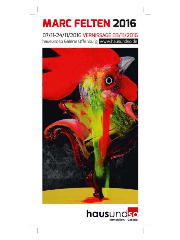 Einladungskarte für die Ausstellung Marc Felten