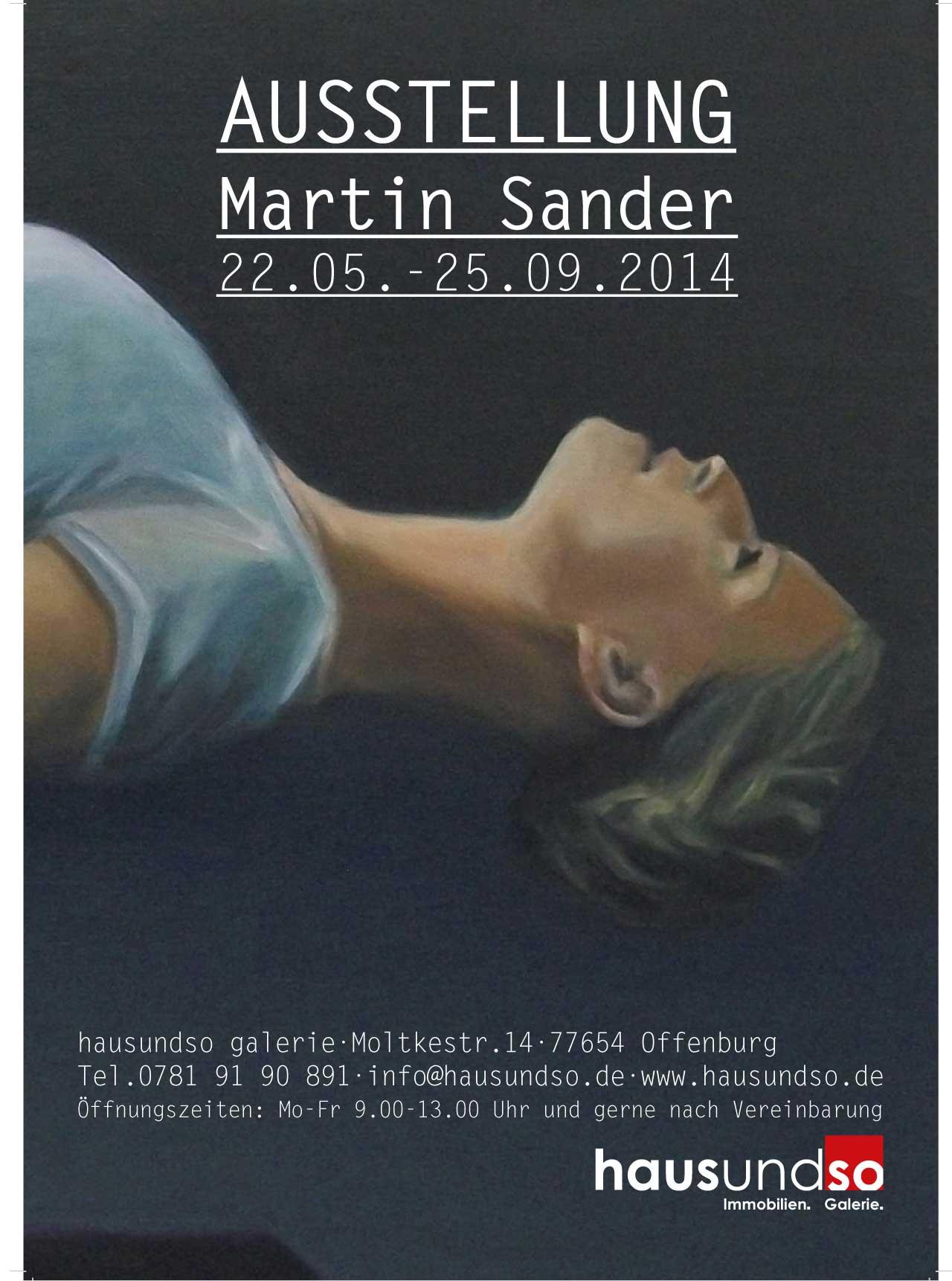 Ausstellungsplakat für die Ausstellung Martin Sander