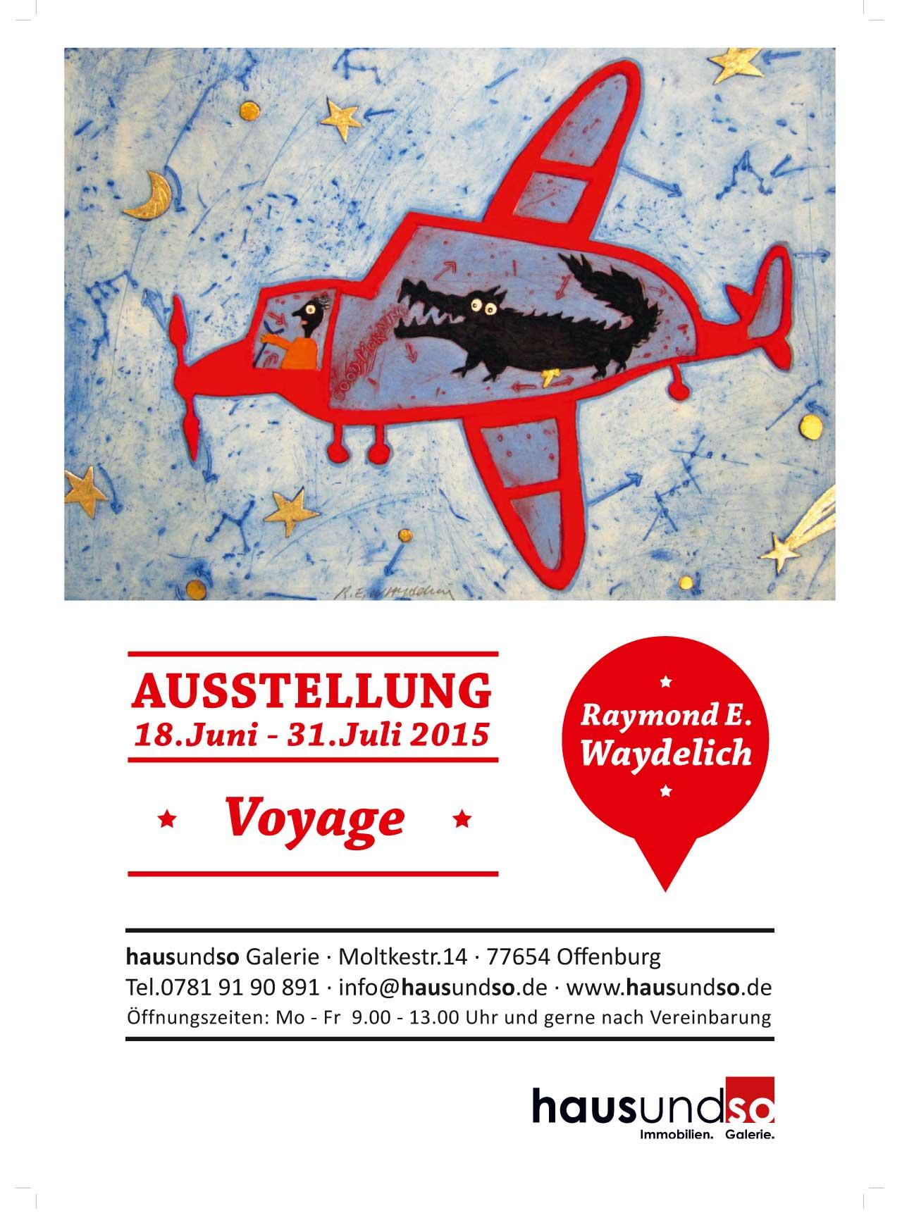 Plakat für die Ausstellung Raymond Waydelich
