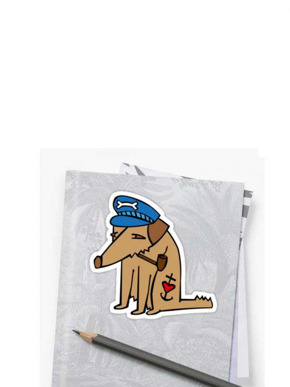 Comic Figur alter Seebär