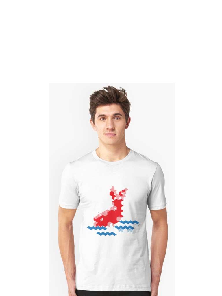 Pixeldesign Koi im Wasser