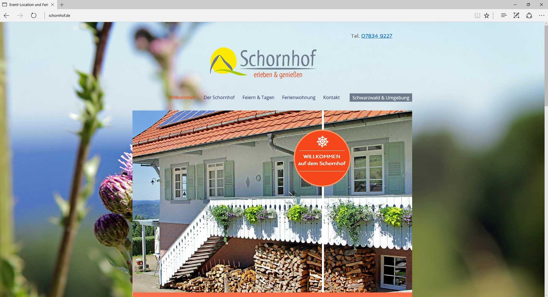 schornhof, Webseite.