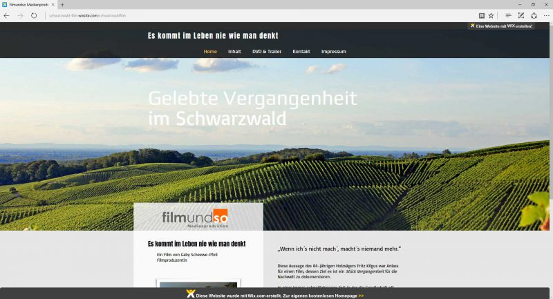 dokumentarfilm webseite schwarzwaldfilm
