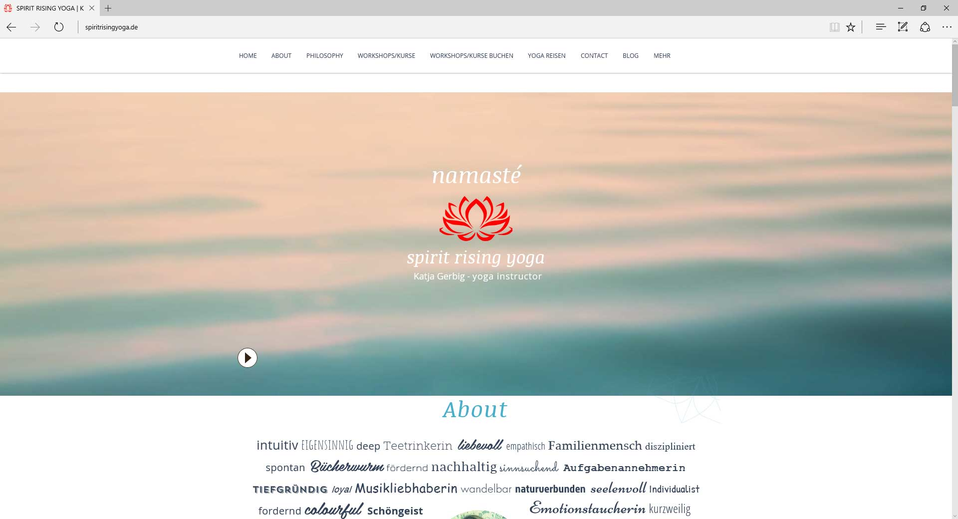 spiritrisingyoga, Webseite.