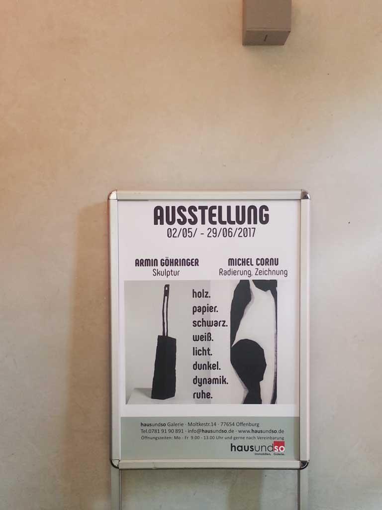 Ausstellungplakat Göhringer und Cornu