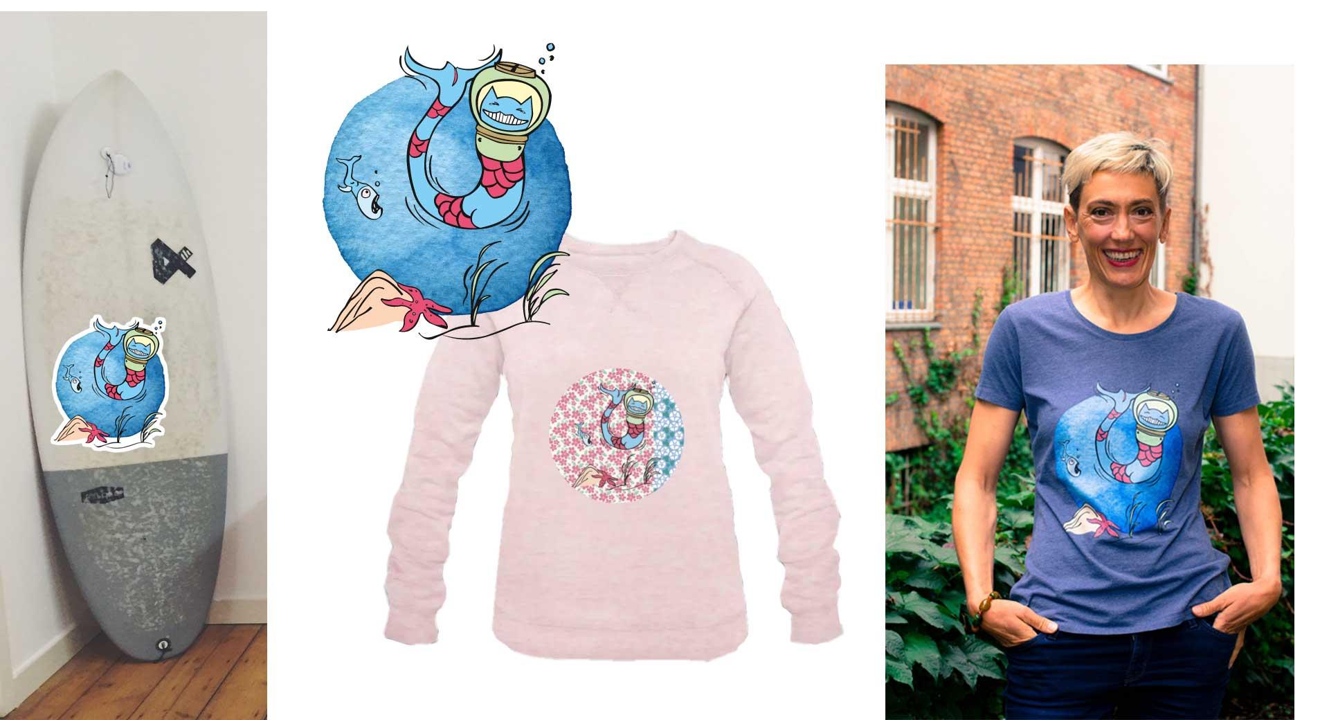 T-Shirts mit kleiner Meerjungfrau