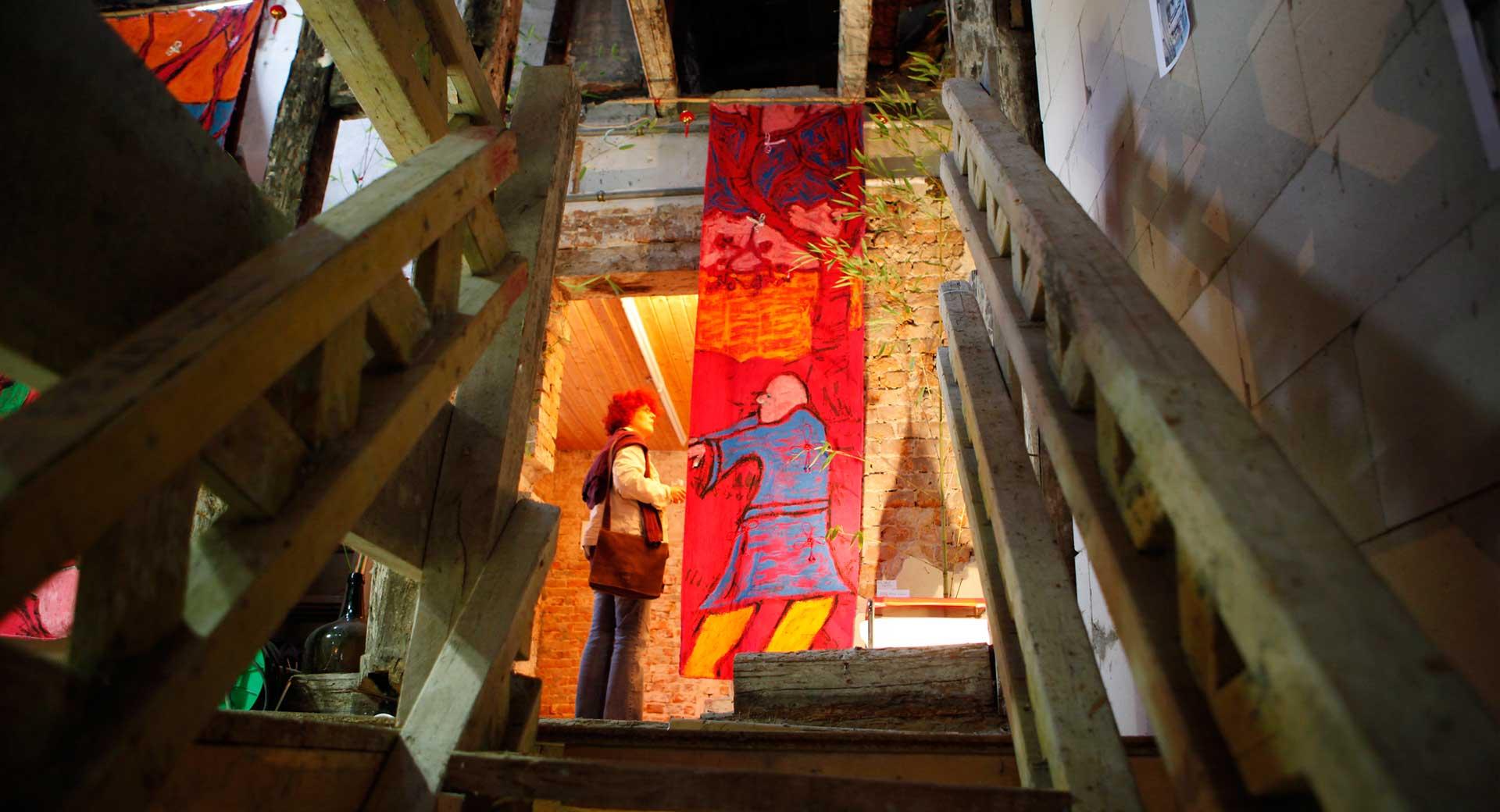 Malerei auf Stoffbahnen Ausstellung 2009