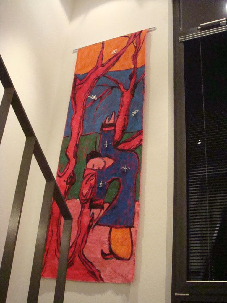 Malerei auf Stoffbahnen Qi Gong Nr. 3 von 3
