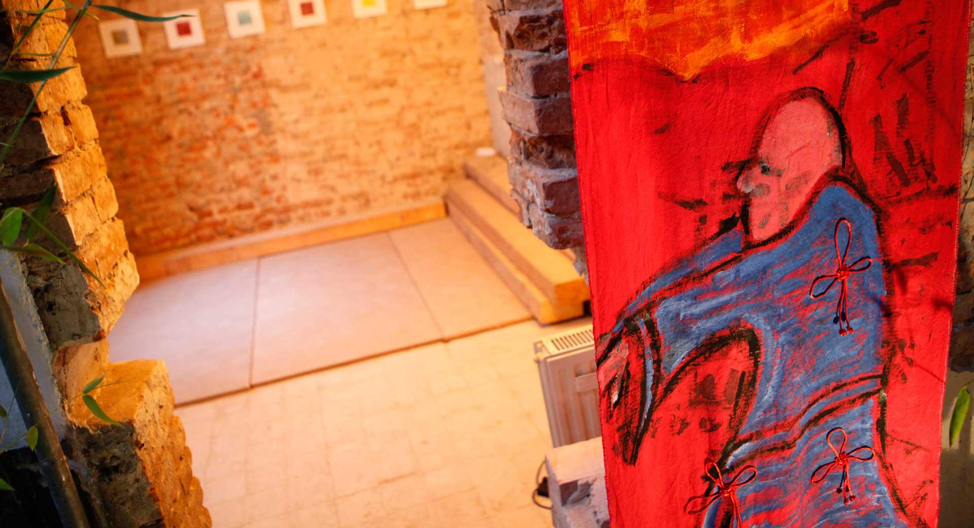 Malerei auf Stoffbahnen Ausstellung 2009 Qi Gong 1