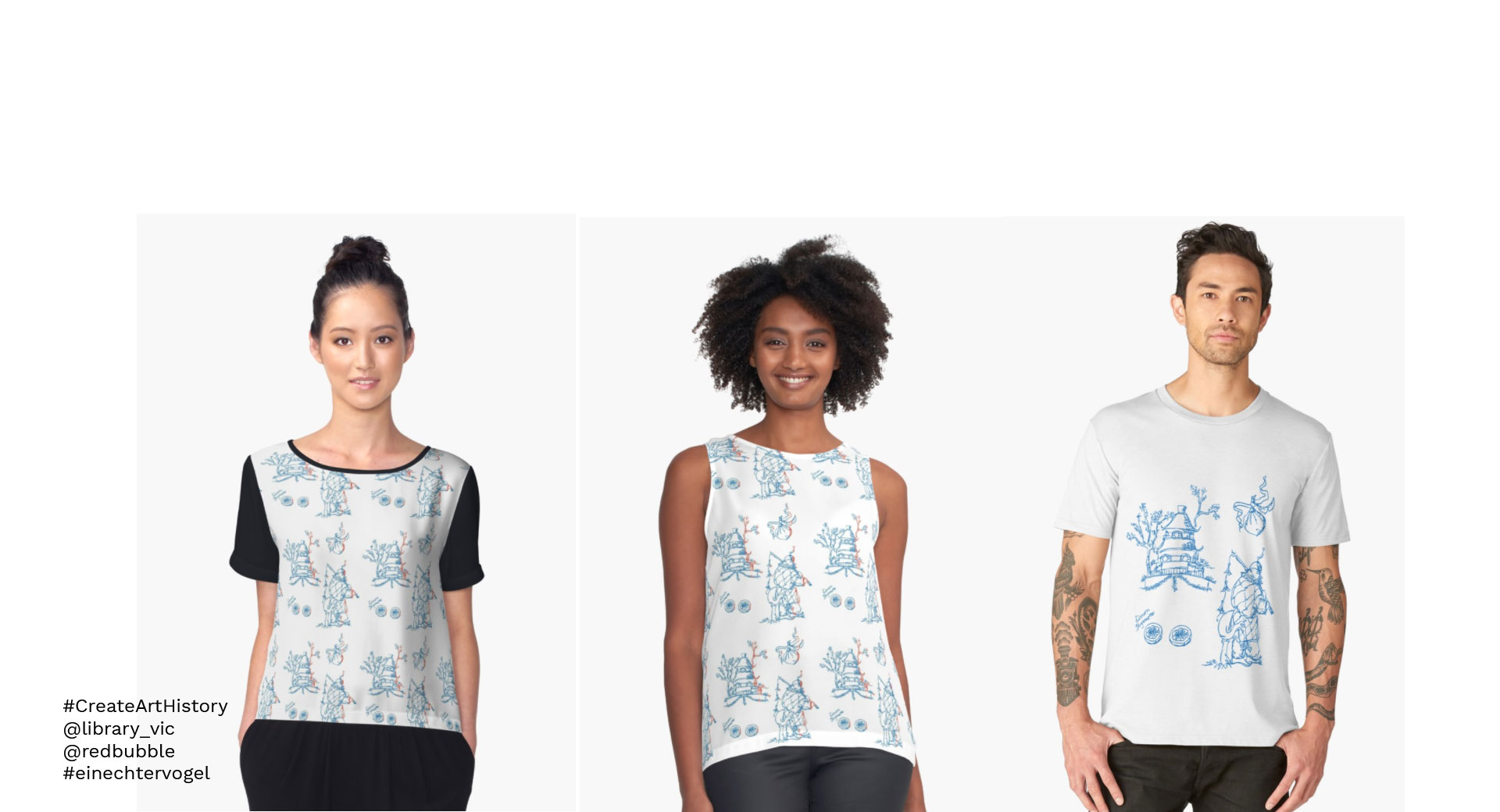 Toile de jouy, T-Shirts