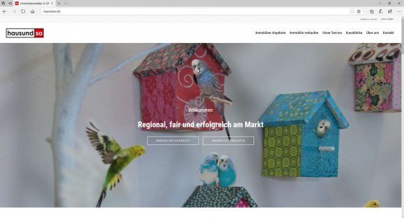 Wordpress Webseite hausundso Immobilien