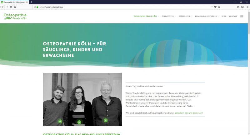 Webseite Zeichnungen Logo für die Osteopathie Praxis in Köln