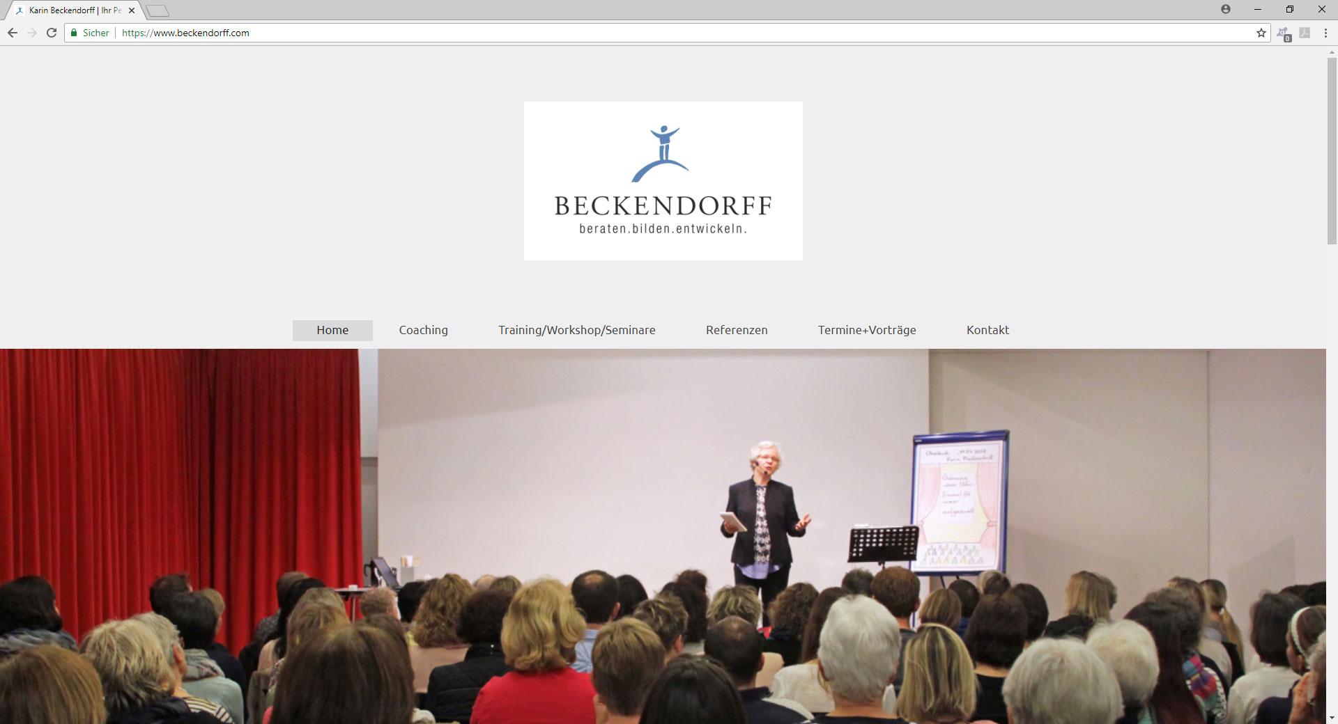 Webseite von Karin Beckendorff. Ihr Personal Coach in Ettenheim