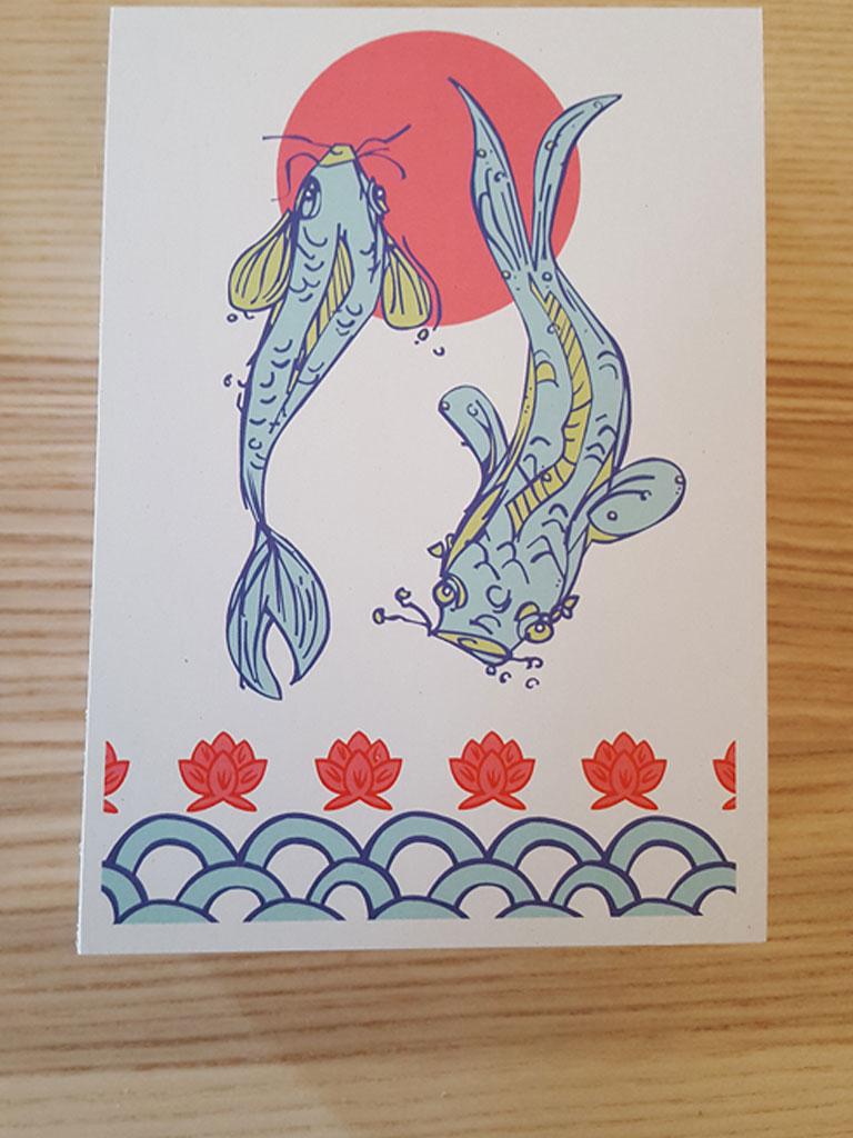 Motiv auf einer Postkarte