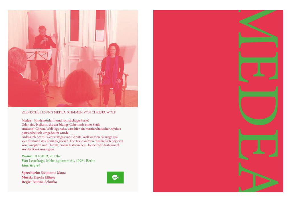 Info Flyer Gestaltung, für eine Lesung