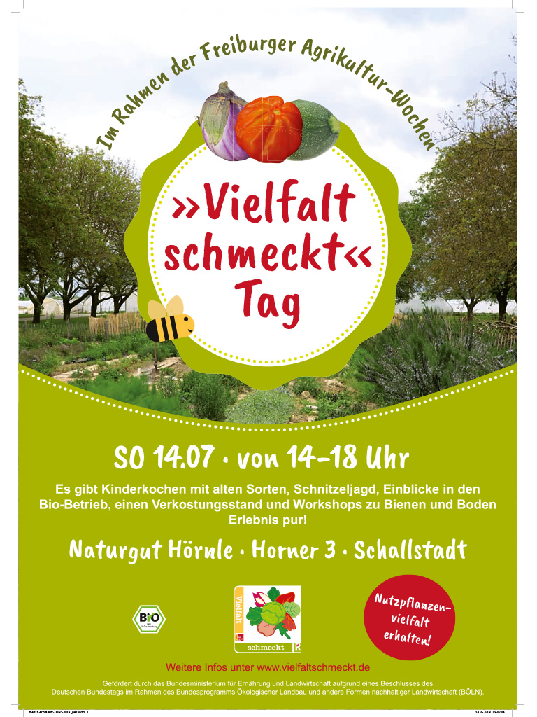 DinA3 Plakat für den Vielfalt-schmeckt Tag