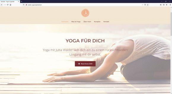 Yoga Webseite Waider Yoga Lippstadt