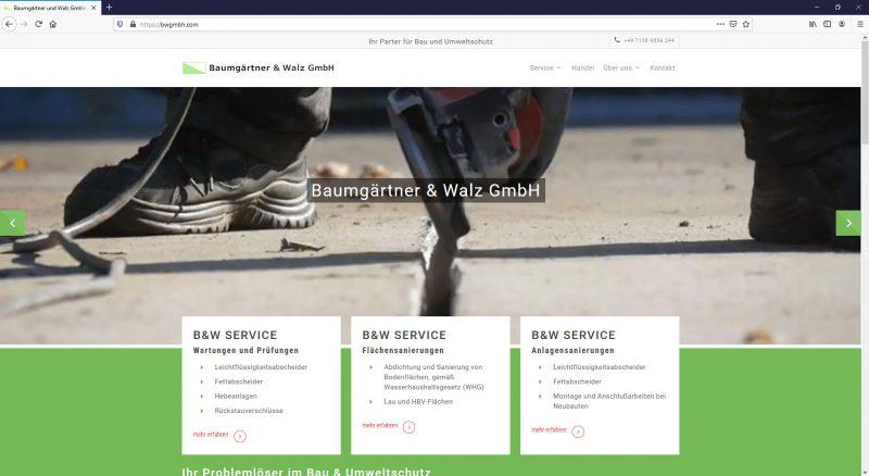 Webseitengestaltung Baumgärtner und Walz