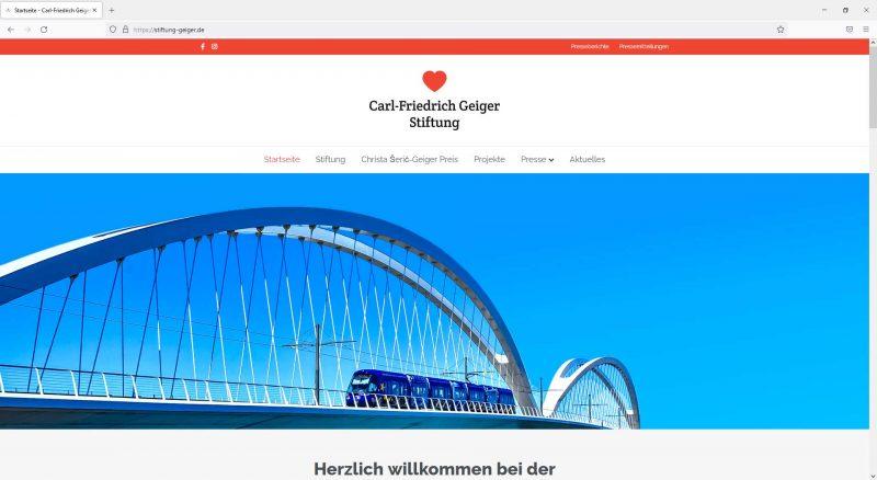 Webseite Carl-Friedrich Geiger Stiftung
